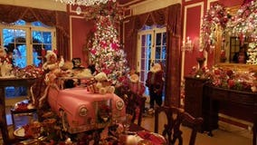 Georgia's 'Pink Palace' goes red and green for holiday tours