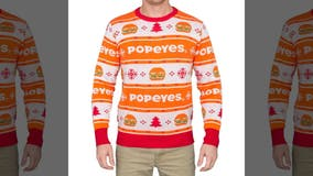 Popeyes launches Chicken Sandwich-themed 'Ugly Christmas Sweater' for holidays