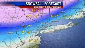 Snowstorm hits New York City region