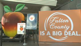 No Peach Drop this year, but the famous 'peach' will be on display