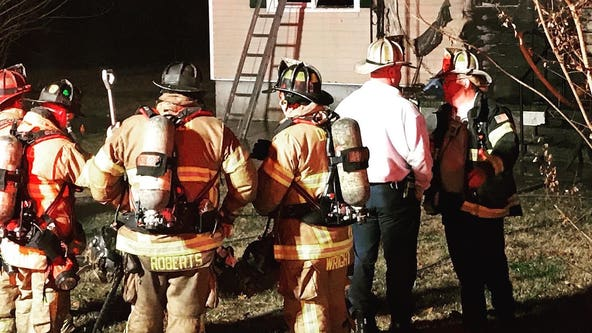 DeKalb County firefighter treated at house fire scene