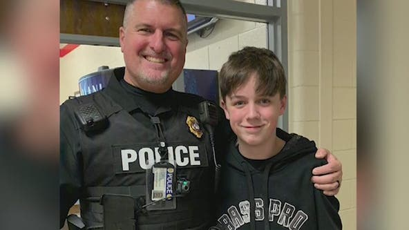 Officer, boy help to save student's life