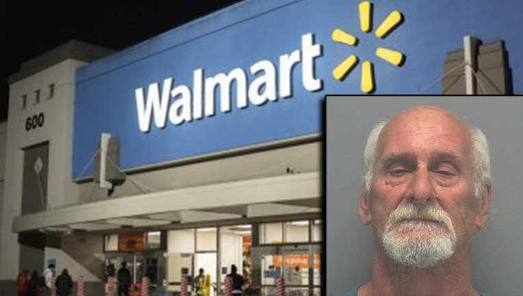 Cape Coral Police say Henry Harvey (inset) punched a customer