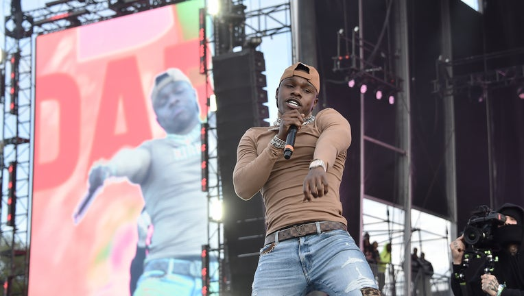 NEW YORK, NEW YORK - OCTOBER 13: DaBaby performs live during Rolling Loud music festival at Citi Field on October 13, 2019 in New York City. (Photo by Steven Ferdman/Getty Images)