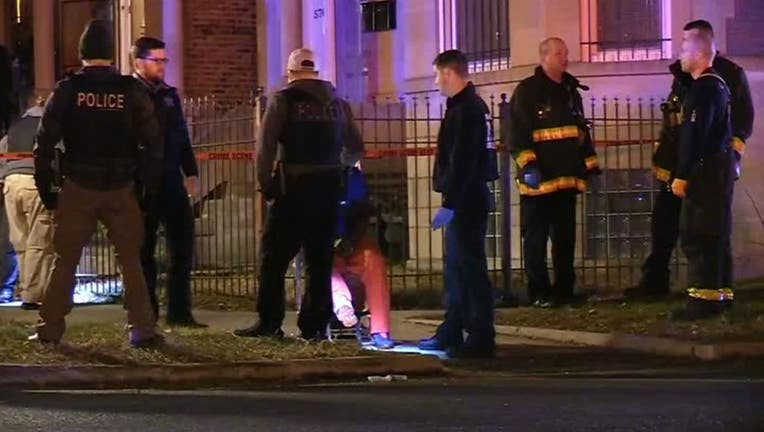 Chicago police say a shooting at a house party memorializing a person who was killed earlier this year has wounded 13 people, four of them critically.