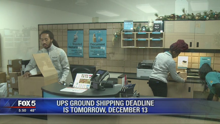 UPS Ground shipping deadline