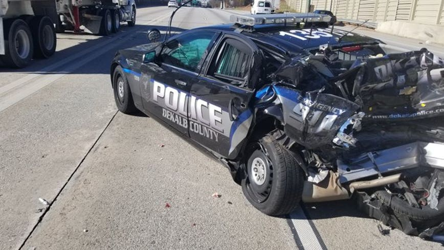 Police remind motorists about Move Over Law after officer's cruiser struck by car