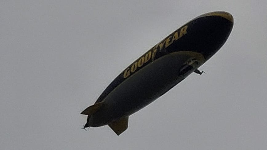 Goodyear Blimp inducted into College Football Hall of Fame in Atlanta
