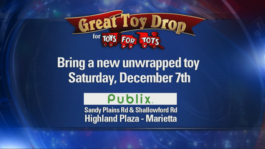 Join FOX 5 Atlanta today for the Great Toy Drop