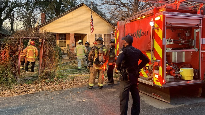 Firefighters: Woman badly burned, pulled from house fire in Atlanta
