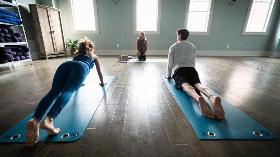 Jennifer Balzano teaches yoga