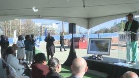 Atlanta mayor helps break ground on Herndon Square