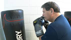 Parkinson's patients says boxing improves strength, flexibility