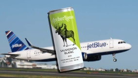 JetBlue flights now serve wine in a can