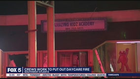 Crews battle fire at Atlanta daycare