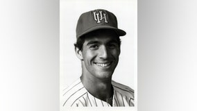 Former University of Houston baseball captain 1 of 9 on chopper with Kobe Bryant