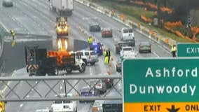 TRAFFIC ALERT: Multiple lanes of I-285 at Ashford-Dunwoody Rd. closed due to flooding