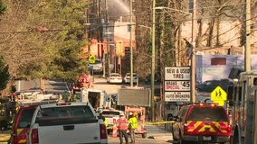 Owner of burned-down building says insurance will cover the damages