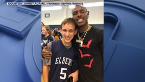 Former UGA star Mecole Hardman continues work with special needs students