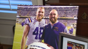 Parents never miss a game with one son playing football at LSU, one in NFL