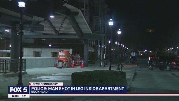Man shot in leg