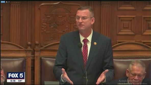 Collins quiet on Georgia Senate during state Capitol stop