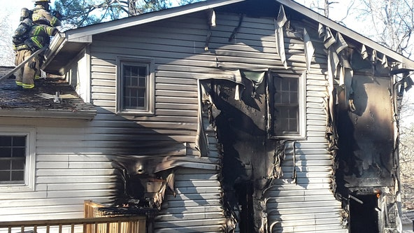 Firefighters discover dog's body battling house fire