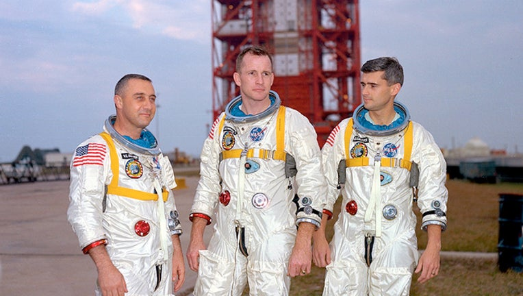Gus Grissom, Ed White, and Roger Chaffee (NASA photo)