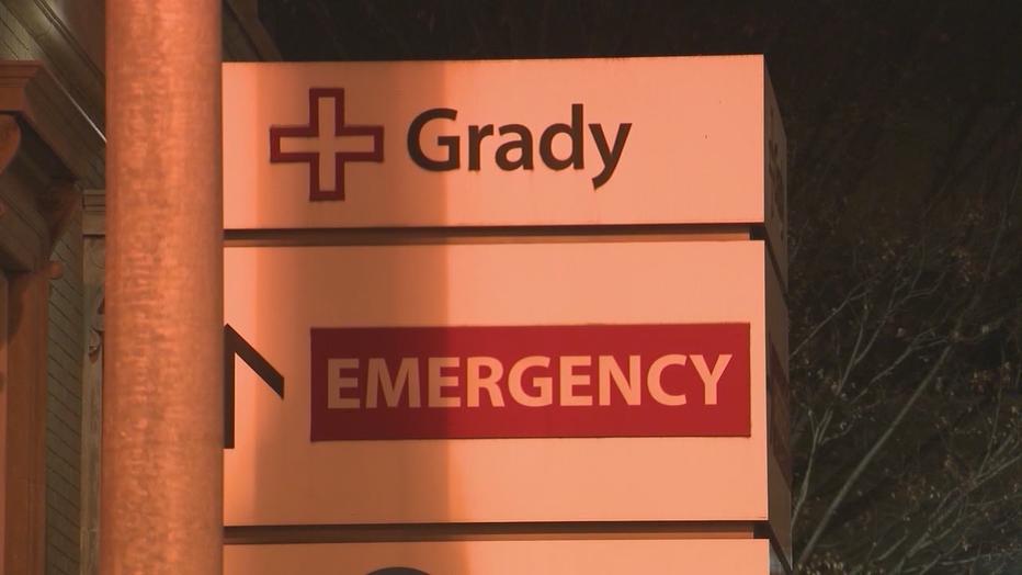 Grady Hospital emergency sign