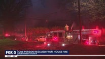 One person rescued from Atlanta house fire