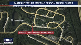 Man shot while meeting person to sell shoes in Cherokee County