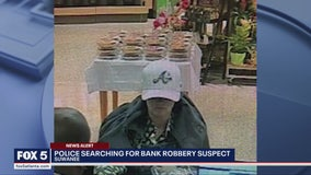Suwanee police searching for bank robbery suspect