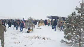 Colorado Air Force veteran's funeral draws hundreds of strangers in snowstorm