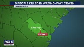 6 killed, including 3 children, in head-on I-95 crash in Georgia