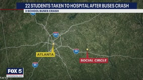 22 students taken to medical facility after school bus crash