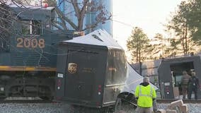 UPS delivery truck hit by train in South Fulton