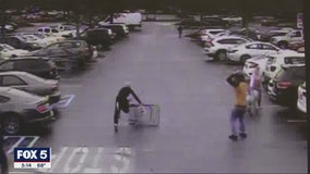 Caught on camera: Shopping cart ends police foot chase