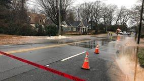 Crews working to repair Decatur water main break, roads closed