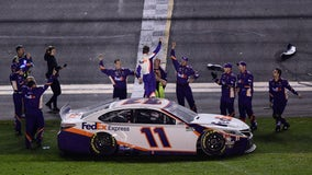 Denny Hamlin wins third Daytona 500, Newman hospitalized