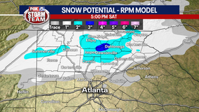 Winter Storm Warning for parts of north Georgia