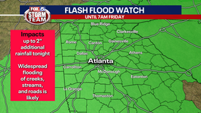 Storm Alert Day: Flooding now greatest threat to north Georgia