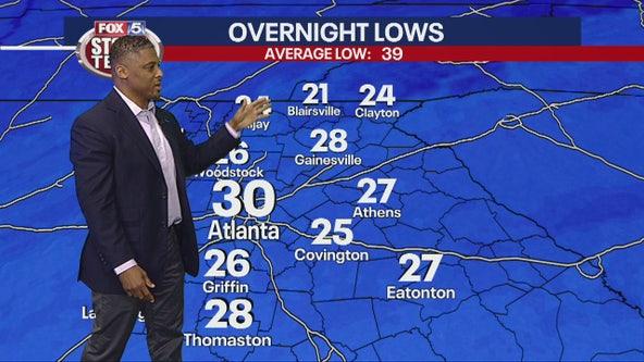 Good Day Atlanta guest Warrick Dunn joins the FOX 5 Storm Team