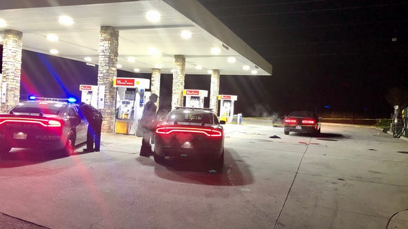 Police: Wounded man shows up at gas station
