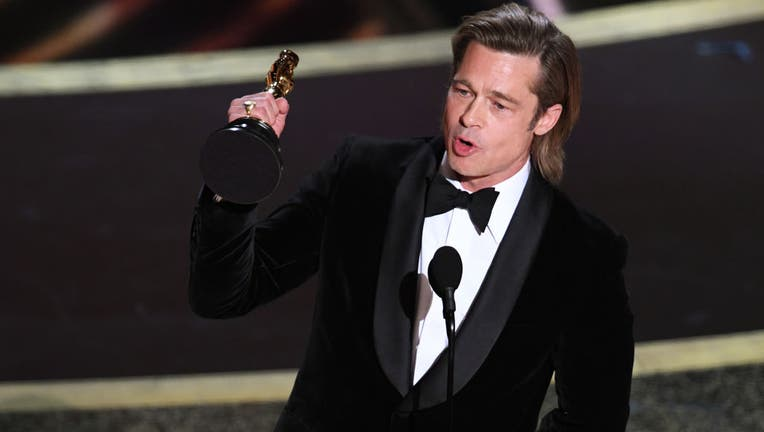 Brad Pitt accepts the Actor in a Supporting Role award for 'Once Upon a Time...in Hollywood' onstage during the 92nd Annual Academy Awards at Dolby Theatre on February 09, 2020 in Hollywood, California. (Photo by Kevin Winter/Getty Images)
