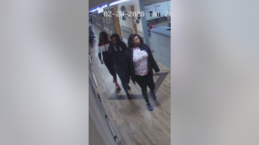 Deputies search for trio of women after nurse's wallet was stolen
