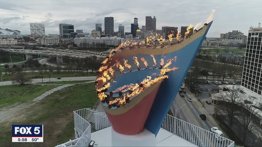 Centennial Olympic Cauldron to be lit again this weekend for marathon trials