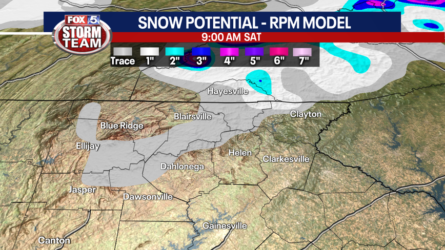 North Georgia could see wintry weather Friday