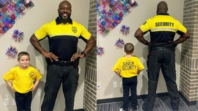 Kindergartner dresses up as his school's security guard for 'Dress As Your Favorite Person Day,' reports say