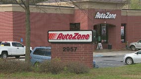 Police search for men involved in violent armed robbery at Roswell auto parts store