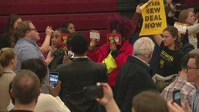 NAFTA, Green New Deal protesters disrupt Joe Biden Detroit rally